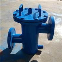 法蘭連接高低接管籃式過濾器