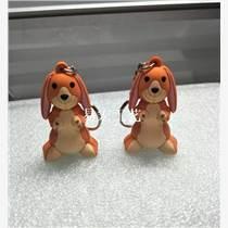 來圖定制狗3D立體PVC軟膠硅膠鑰匙扣 汽車鑰匙掛飾