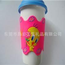 來圖定制保溫瓶卡通滴膠PVC軟膠硅膠杯套
