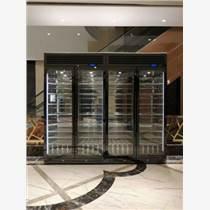 恒溫酒柜一體靠墻定制簡約餐邊柜不銹鋼紅酒柜隔斷柜