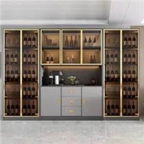 酒柜靠墻客廳現代簡約落地鋼化玻璃輕奢收藏柜展示柜
